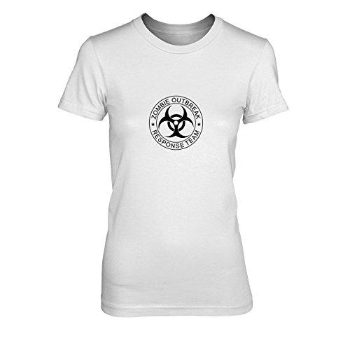 onse Team - Damen T-Shirt, Größe: XL, Farbe: weiß (28 Days Later Halloween Kostüm)