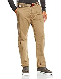TOM TAILOR Herren Chino Hose with belt/508