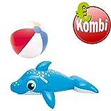 Bestway Schwimmtier Dolphin Delphin plus aufblasbarer Wasserball Beachball