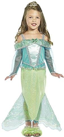Smiffys Kinder Meerjungfrau Prinzessin Kostüm, Kleid mit Ärmeln, Größe: S, 36165 (Leicht Unter Dem Meer Kostüme)