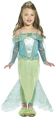 Smiffys Kinder Meerjungfrau Prinzessin Kostüm, Kleid mit Ärmeln, Größe: S, 36165