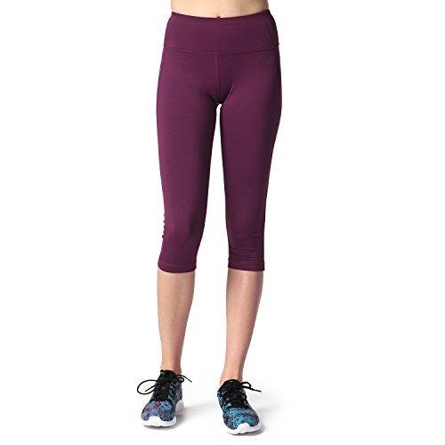 Lapasa Damen 3/4 Sport Leggings blickdicht, dehnbar und luftig, 3/4 Yoga Sporthose
