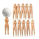 PIXNOR Nackt-Lady Golf Tee Grün Pitch Fork Pitchgabel 10ST 70mm (Hautfarbe)