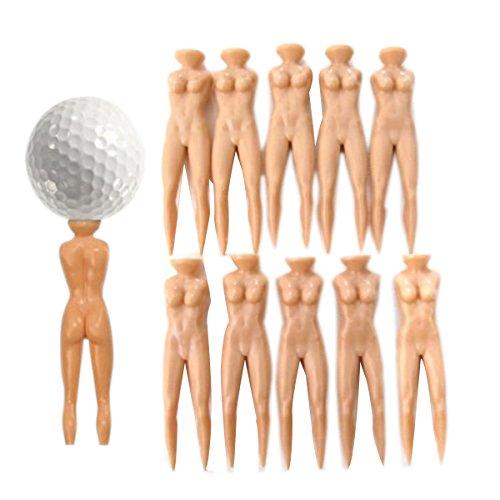 vorcool 10070mm Nude Lady Style Golf Tee grün Pitch Gabel Pitchgabel (Haut Farbe) -