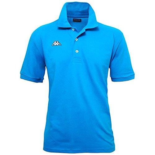 Kappa - Polo Uomo T-Shirt Piquet Mare Sport Tennis Barca Calcio - 15 Colori - Colore: Azzurro - Xxl