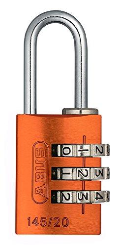ABUS Aluminium-Zahlenschloss 145/20, orange, 46607