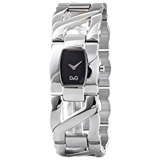 D&G Dolce&Gabbana Ollie – Reloj analógico de mujer de cuarzo con correa de acero inoxidable plateada – sumergible a 30 metros