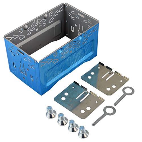 Provide The Best Auto-Stereo-Audio-Refitting Gesichts Frame Panel ISO 2DIN Einbaumetallkäfig mit Halterungen Schrauben Keys