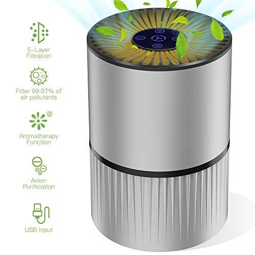 Duomishu Purificador de Aire para Hogar Oficina 4 en 1 Filtro HEPA Carbón Activado,con Purificación...
