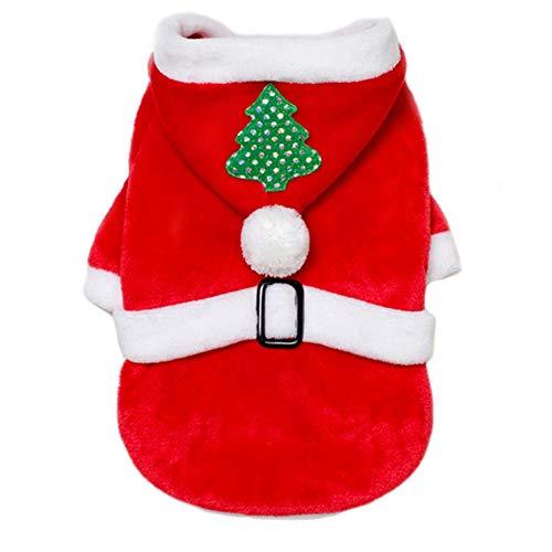 Xxl Weihnachtsmann Hunde Kostüm - Hotumn Hundekostüm Weihnachtsbaum mit Kapuze für kleine Hunde und Katzen, XXL, weihnachtsmann