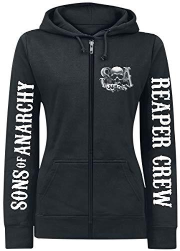 Sons of Anarchy Reaper Crew Kapuzenjacke schwarz L