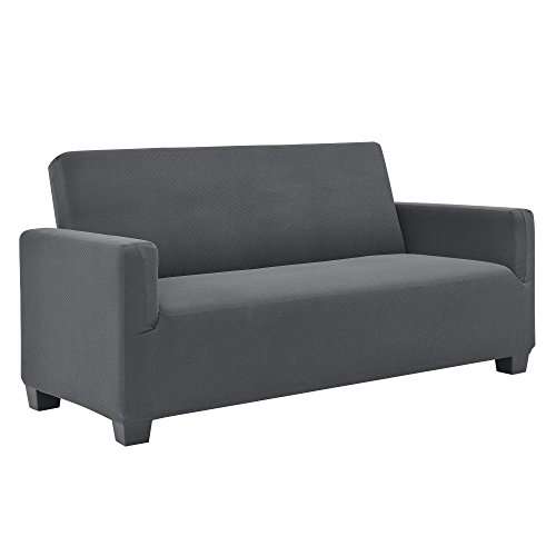 [neu.haus]® Sofabezug 120-190cm Dunkelgrau Schonbezug 2-Sitzer Sesselüberzug