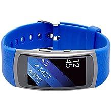 Woodln Silicón Repuesto Correa Reloj Band para Samsung Gear Fit 2 SM-R360 Actividad Deporte Inteligente Accesorios Correas de Reloj (Blue)