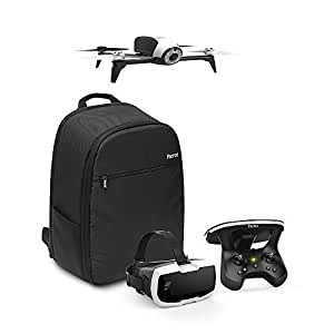 Parrot - Pack Drone Quadricoptère Bebop 2 + Lunette FPV + Skycontroller 2 - Blanc + Sac à Dos + Follow-me