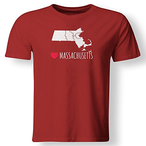 Love Heart Massachusetts Local Pride State Souvenir Vacation Gift T Shirt