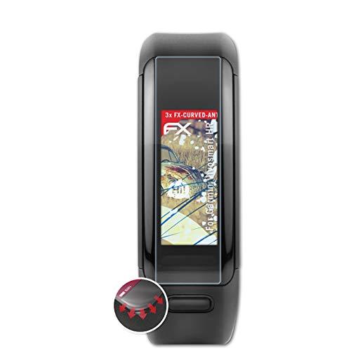 atFoliX Schutzfolie passend für Garmin Vivosmart HR Folie, entspiegelnde & Flexible FX Bildschirmschutzfolie (3X)