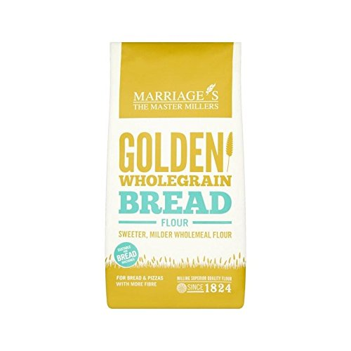 Image of W&H Marriage Golden Wholegrain Strong Bread Flour 1kg - Pack of 4