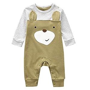 catmoew Baby Kleider (0M-1T) Mädchen Kleidung Junge Kleidung Baby Lange Ärmel Baumwolle top Cartoon Overall Strampler Kletteranzug Neugeborene Kleidung