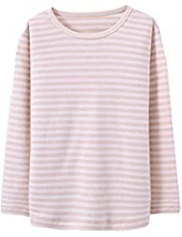 Zhhlinyuan Kids Classic Stripe Pajamas Tops Girls Home Long sleeves Cotton T-Shirt