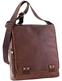 CHIARUGI italienne sac de messager en cuir - brun
