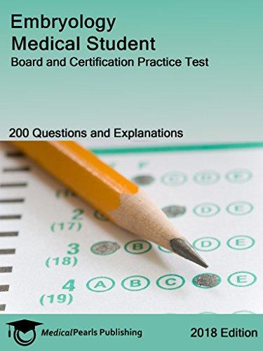 Embryology Medical Student: Board And Certification Practice Test por Medicalpearls Publishing Llc epub