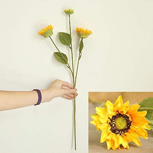 Efinny 1 confezione di fiori artificiali di seta, fiori finti di girasole artificiale ramo per composizione floreale ufficio tavolo da pranzo matrimonio fai da te arredamento casa giardino