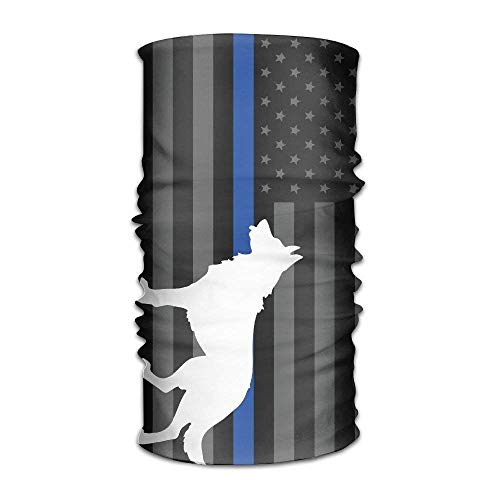 og Thin Blue Line Flag Multifunctional Magic Headwear 12-in-1 Men&Women Tube Scarf Facemask Headbands Neck Gaiter Bandana Balaclava Helmet for Outdoor Running Yoga Work Out ()