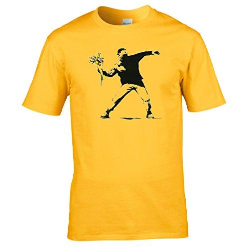 Banksy blume thrower T-shirt Gelb