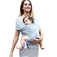Volwco Baby Wrap Carrier Adjustable,Cotton Sling Front And Back Infant Carrier Nursing Cover Blanket Breastfeeding Cover Suitable For Newborn And Toddlers Up To 35 Lbs/16kg,Soft And Comfortable