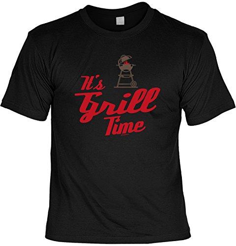 Grill/Spaß-Shirt/Fun-Shirt/Rubrik lustige Sprüche: It`s Grill Time - geniales Geschenk Schwarz