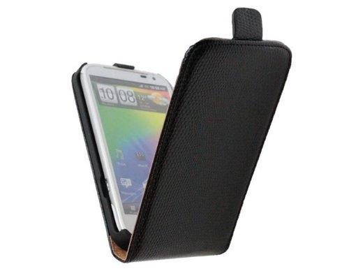 Custodia Flip per Samsung Galaxy S3 mini GT-18190 Note 3 N9000/N9002/N9005 Note N7000 Beam I8530 Nexus 3 I9250, per Apple iPhone 5/5S, per Sony Xperia SP M35H, S LT26i, per LG Optimus G E 975 HTC Sensation XL G21, modello Desire C, One X, One S, Polipropilene, Nero Snake, HTC Sensation XL