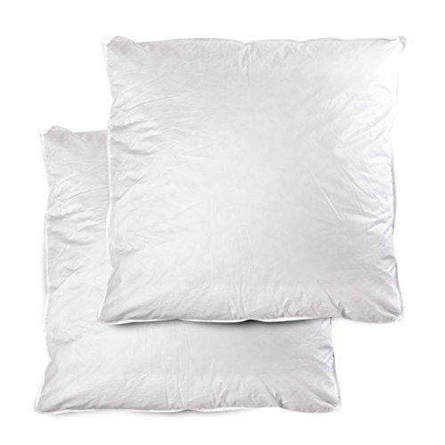2 x Premium Qualität • Home&Fashion • 2-Set – Kopfkissen Federkissen 80×80 cm, Füllung: 1500g, 70% Gänsedaunen, 30% kleinster Federchen, Kissenbezug: 100% Baumwolle • Extra fest gefüllt