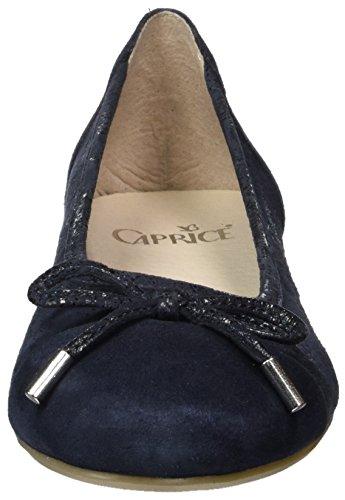 Caprice 22105, Ballerines Femme Bleu (Ocean Comb)