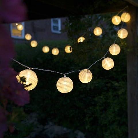 Uping® Led Lichterkette 20er Batterienbetriebene Lampions Laterne für Party, Garten, Weihnachten, Halloween, Hochzeit, Beleuchtung Deko usw. 4,2M
