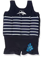 Konfidence Float Suit - Blue Breton Stripe (2-3 Years) by Konfidence