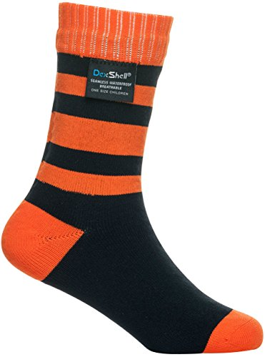 Bridgedale Thermal Liner (Dexshell Smart Kinder Wasserdichte Socken Tangelo Red Stripe Small (9-12 UK Kids))