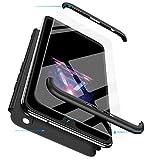 FMPC Cover per iPhone 7 Plus/iPhone 8 Plus, Custodia in PC Rigida con 3D Vetro Temperato Struttura[3 in 1] Bumper Finitura Opaca Corpo Intero Ultra Slim Case Antiurto AntiGraffio-Nero