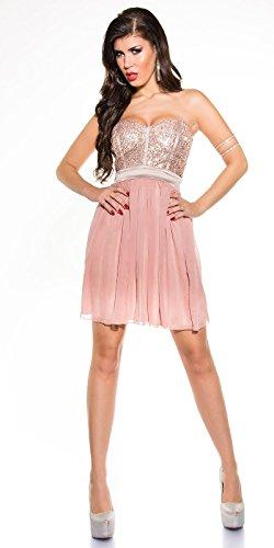 In-Stylefashion - Robe - Femme Beige Beige Rose - Rose