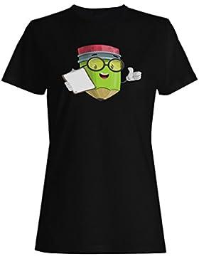 Diseño de lápices de colores camiseta de las mujeres h120f