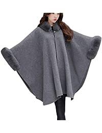 BOLAWOO Parka Mujer Largo Invierno Talla Grande Poncho Abrigos Caliente Mode De Marca Elegantes Manga Largo