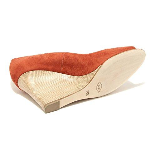 55674 decollete spuntato TOD'S ZEPPA RD scarpa donna shoes women Mattone