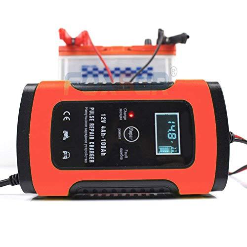 YTBLF Caricabatteria Moto ups, Caricabatterie Intelligente per Auto 12V, caricabatteria Riparazione a impulsi con Display LCD per Auto, Batteria Moto