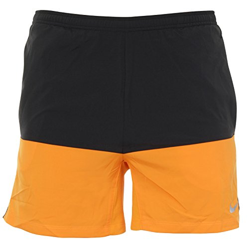 Nike - 5 distance - Short - Homme Orange (Vivid Orange / Negro / Reflective Silv)