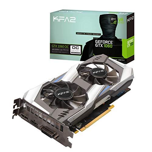 KFA2 Nvidia GeForce GTX 1060 OC 6GB GDDR5X, 60NRJ7DSV8OK, schwarz (3gb Grafikspeicher)