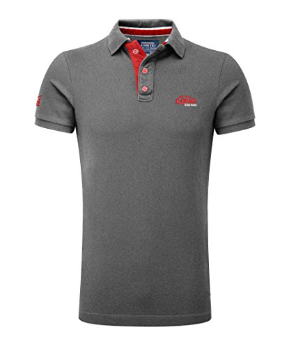 M.Conte Herren Poloshirt Basic Men's Kurzarm Polohemd T-Shirt Polo-Shirt Pique- Gr. XXXL, Grau-Melange