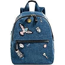 Sulmoe - Bolso mochila  de vaquero para mujer azul azul