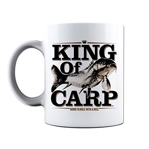 Angeln Becher Kaffee Tasse Geschenke für die Fischer King von Karpfen Fisch Tassen, weiß