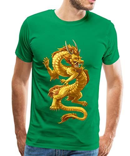 Spreadshirt Chinesischer Drache Männer Premium T-Shirt, M, Kelly Green