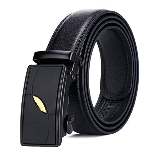 Amdxd cinture in pelle da uomo fibbia automatica cintura nero uomo 110cm lunghezza