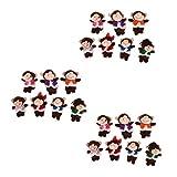 Sharplace 3 Ensembles Marionnettes à Doigts Singes Jouet Jeux Cadeaux Enfants Théâtre - Five Little Monkeys Jumping on The Bed